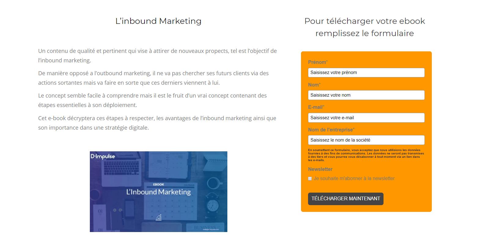 Formulaire ebook