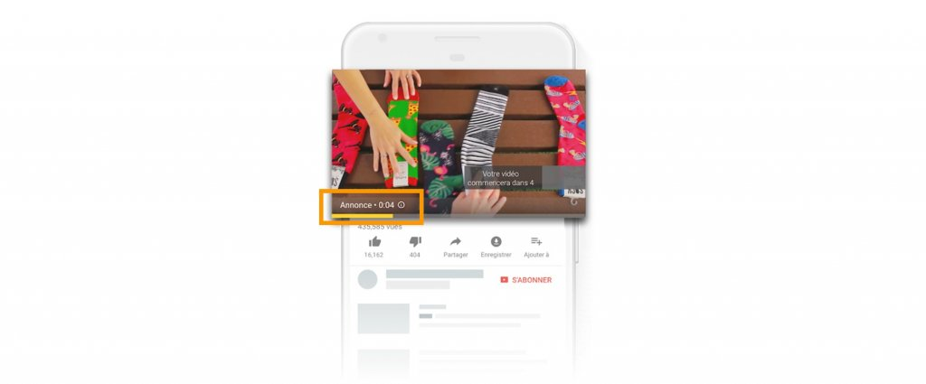 Youtube Ads annonce bumper